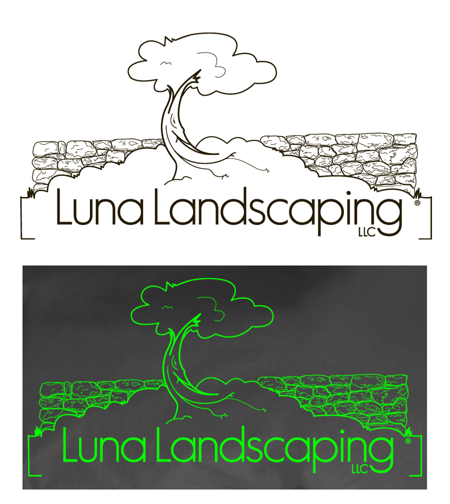 logo design for Luna Landscaping