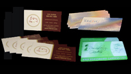 business cards printing with logo design project