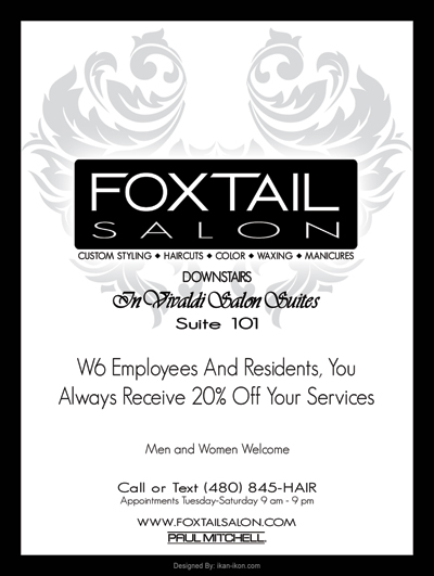 Foxtail Salon print ad design logo development logo design logos