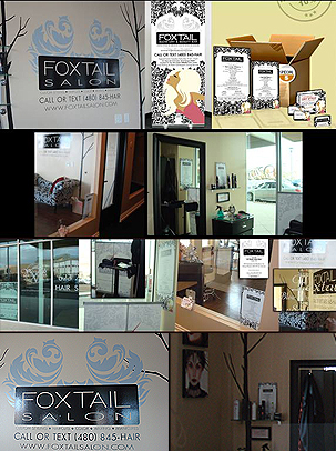 Foxtail Salon logo development logo design logos